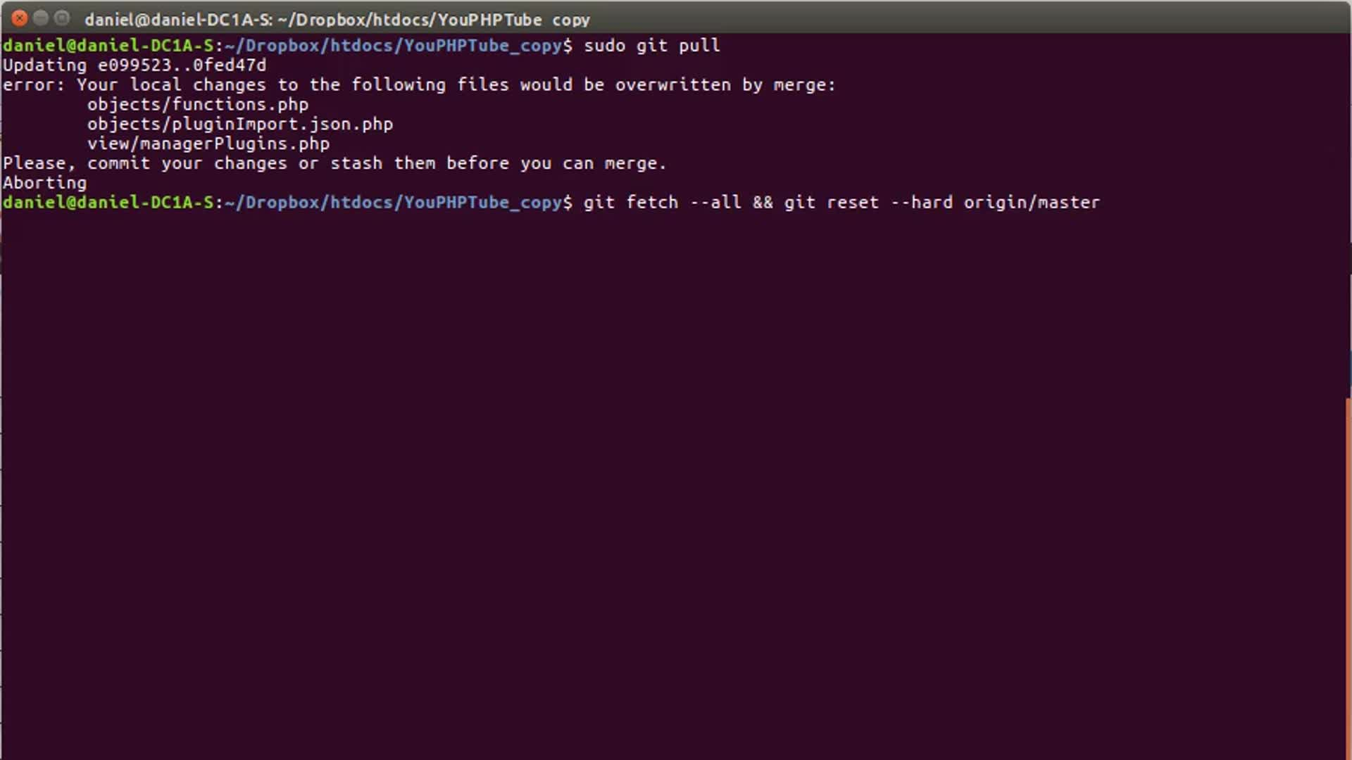 Force Git to Overwrite files
