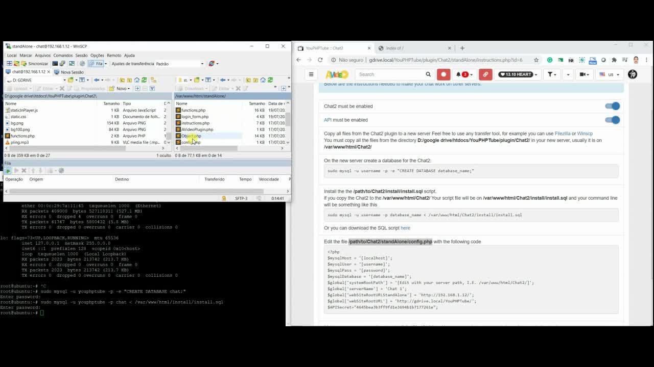 Chat External Server Installation