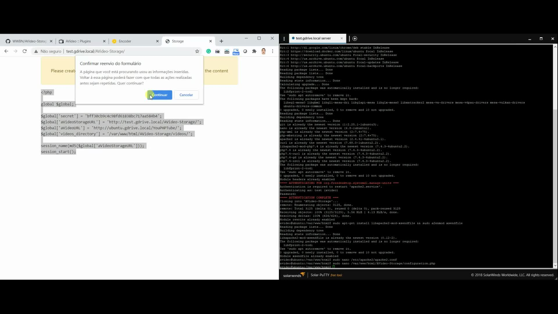 Installing YPTStorage and configuring the YPTStorage plugin