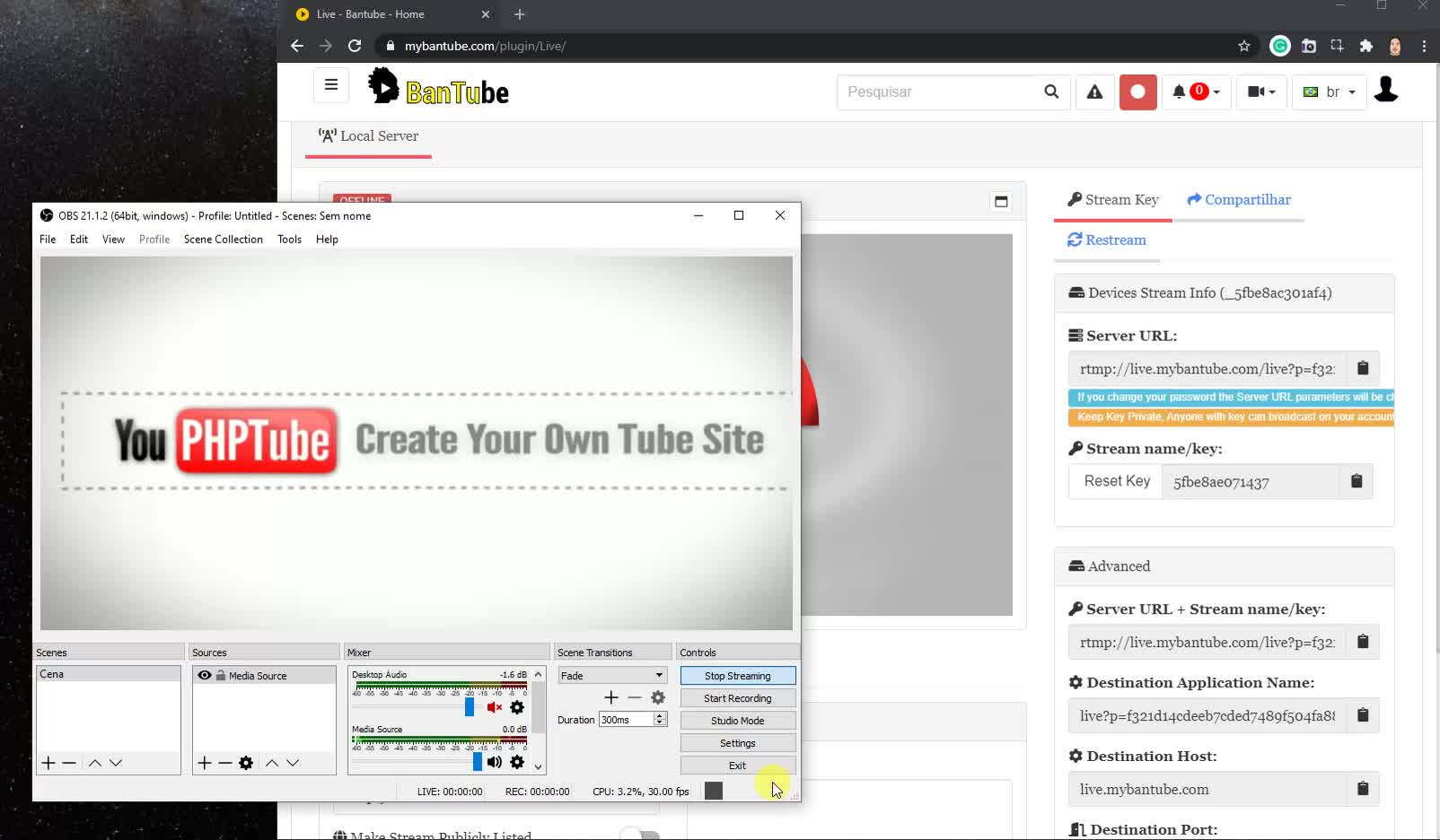 Making a Livestream with OBS